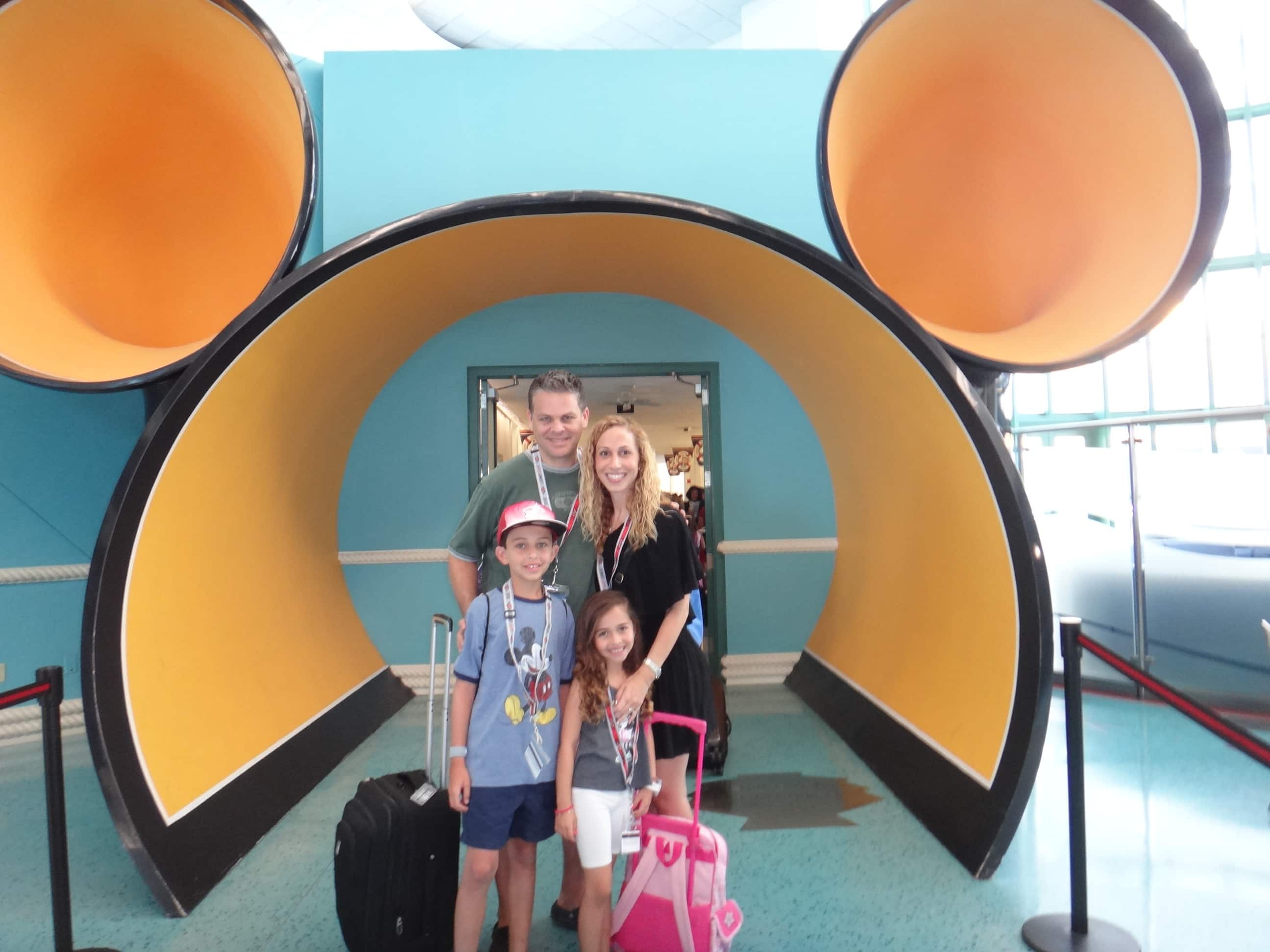 All ready to embark on the Disney Fantasy Cruise