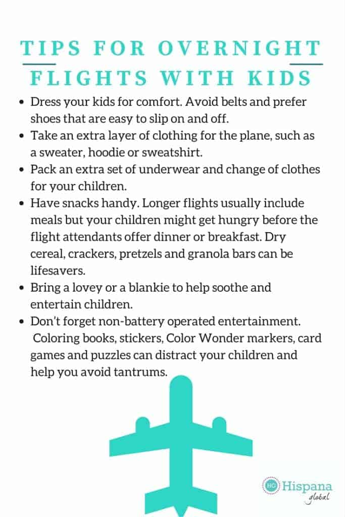 Infographic - Tips for Overnight Flights with Kids