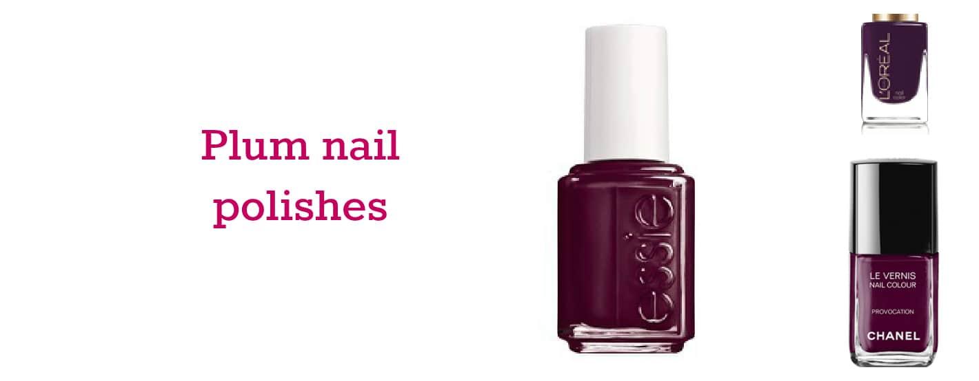 Plum nail polishes