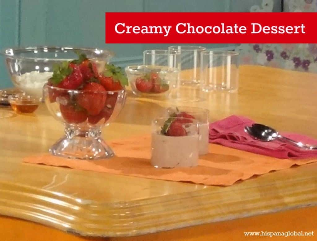 Healthy dessert non fat chocolate mousse recipe