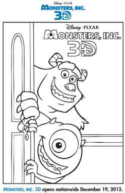 monsters inc door coloring pages - photo#13