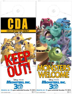 Free Monsters Inc. 3D activity