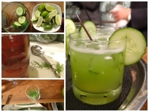 Non alcoholic cucumber lime drink