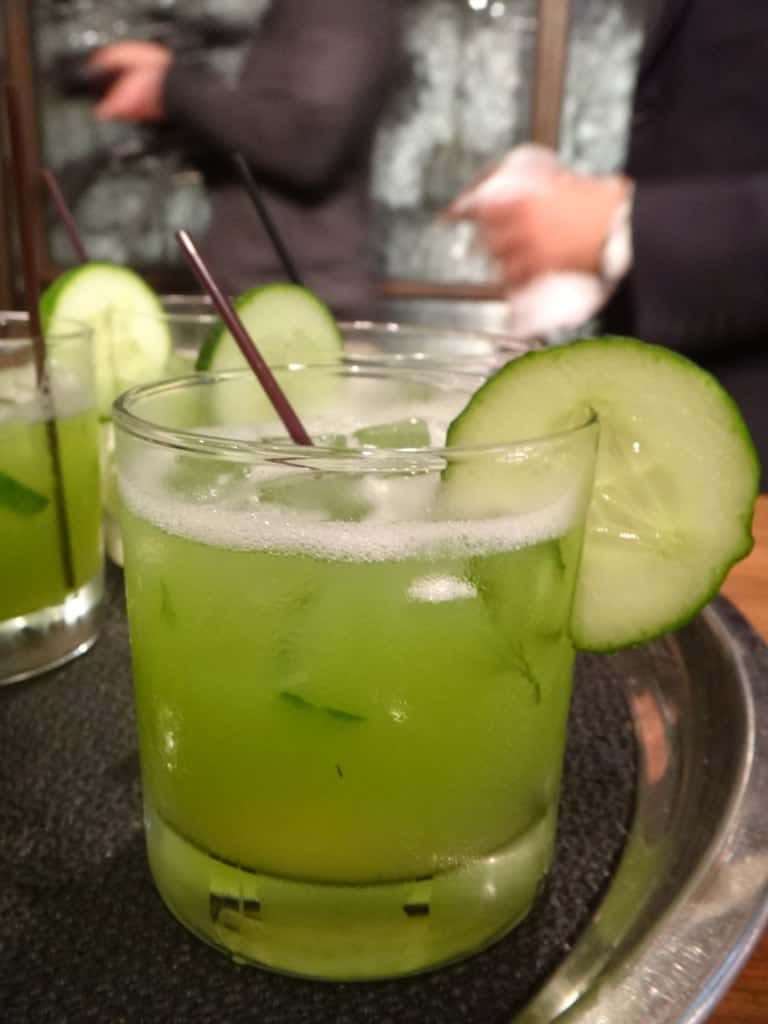 Lime cucumber drink