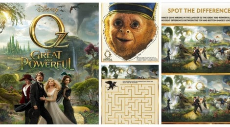 "Fun And Free ""Oz The Great And Powerful"" Activities"