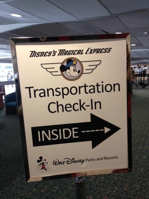 Disney transportation at the airport