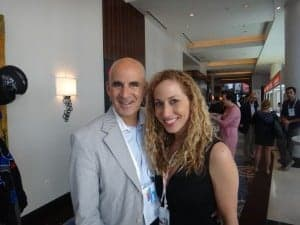 Ted Rubin and Jeannette Kaplun at Hispanicize