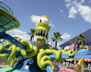 The Simpson newest ride is Kang & Kodos' Twirl 'n' Hurl