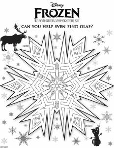frozen maze find olaf