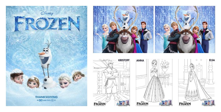 Frozen printable activities for kids