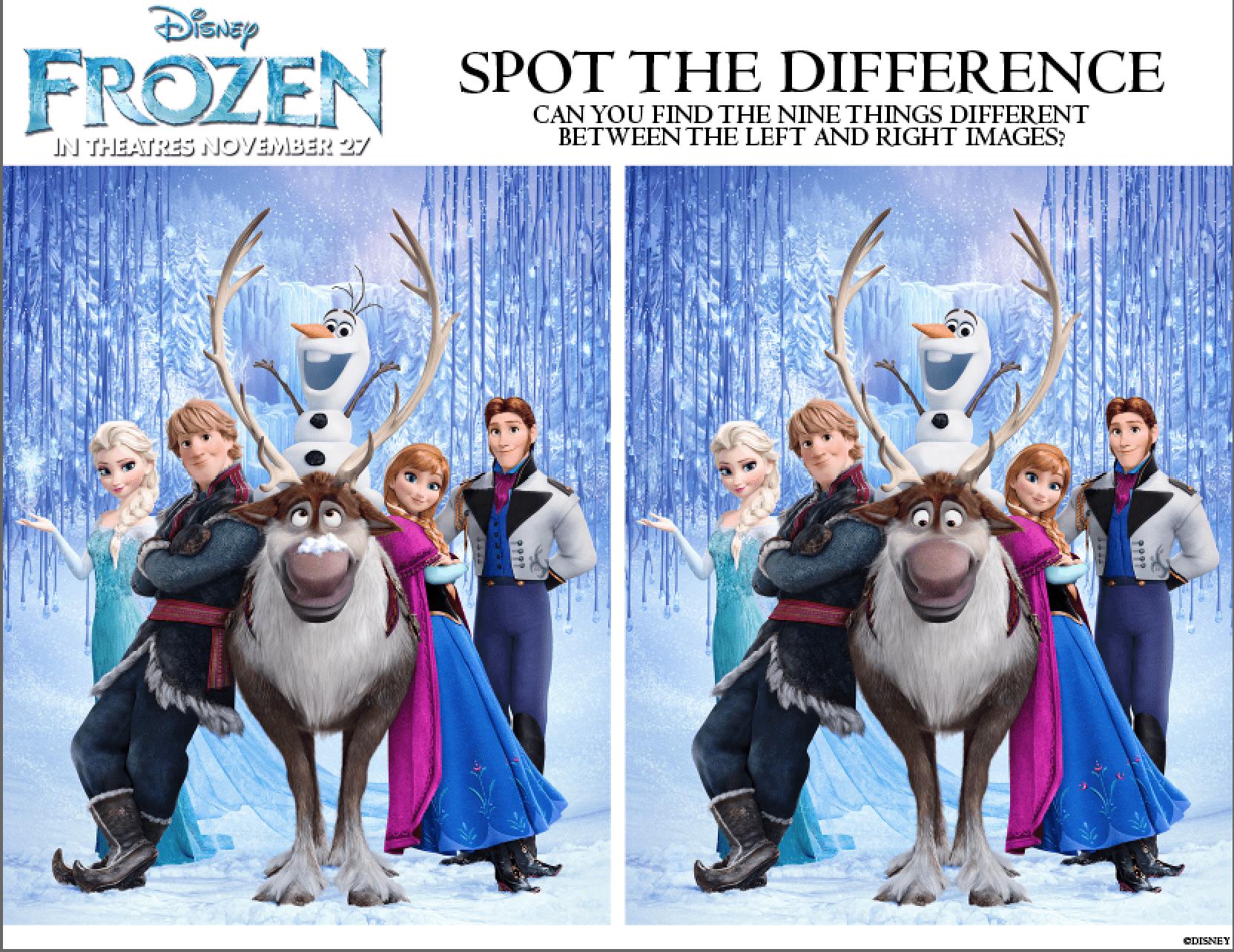 More free printable activities from Disney 39 s Frozen