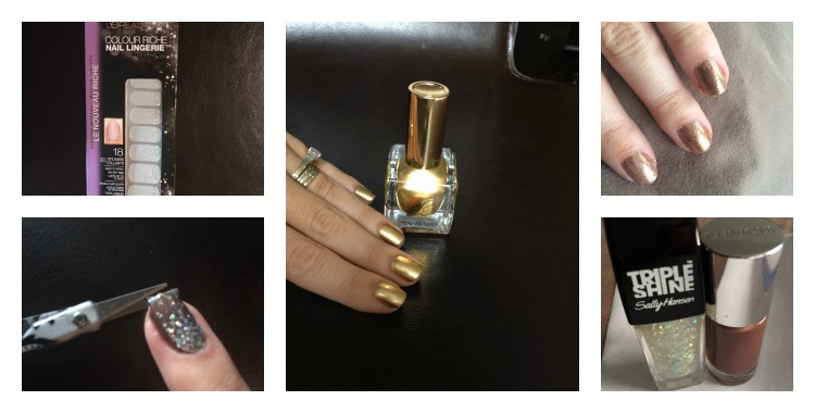 Glam DIY nails for the holidays