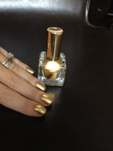 Estee Lauder The Metallics gold Pure Color nail polish