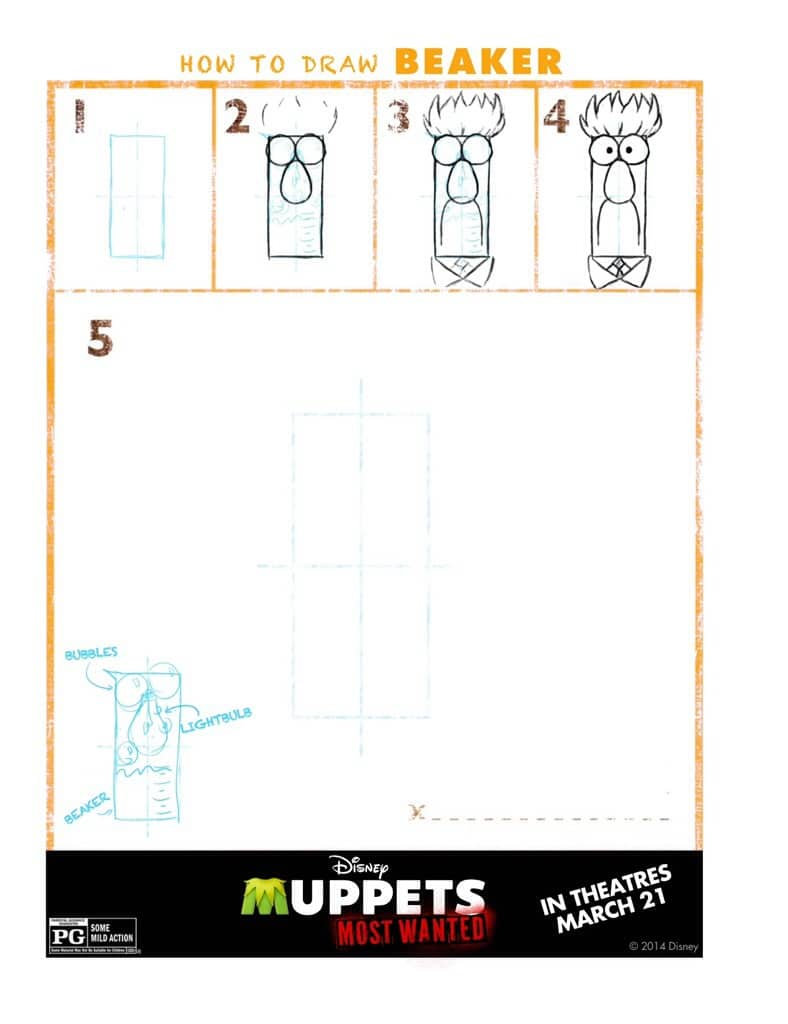 How to draw Beaker from the Muppets