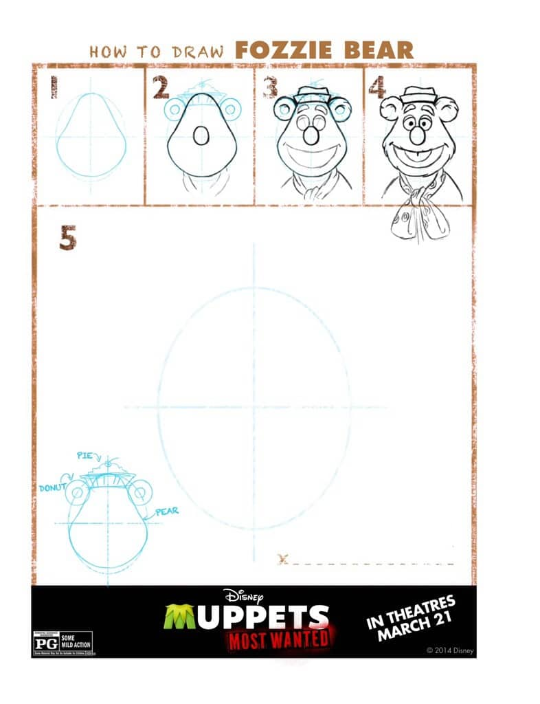 How to draw Fozzie Bear from the Muppets