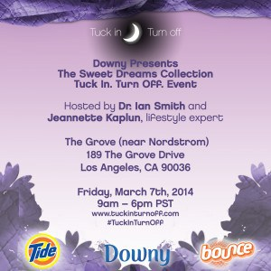 Downy Invite LA #tuckinturnoff