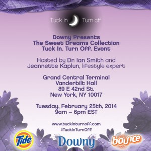 Downy Invite NYC #tuckinturnoff