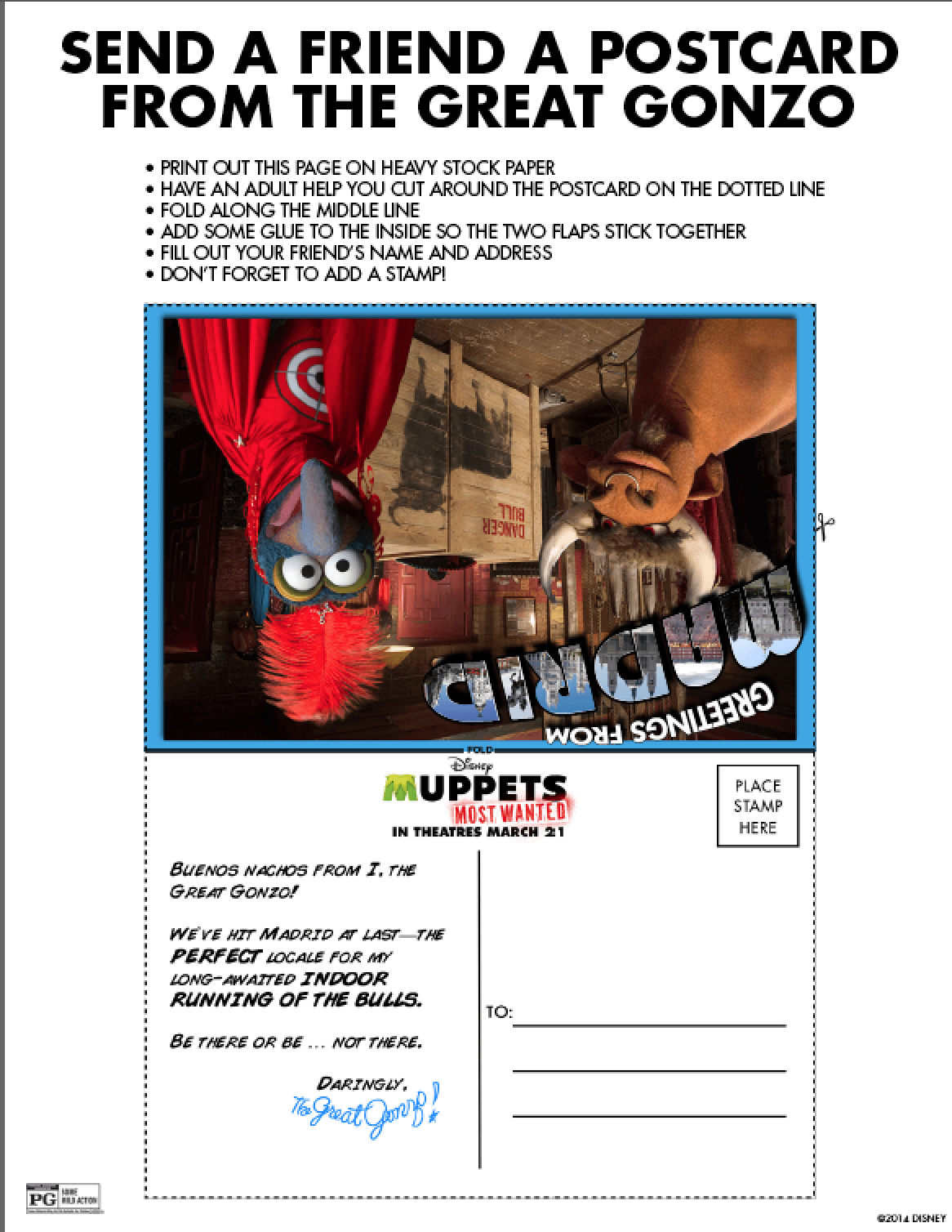New Muppets Most Wanted Free Printable Activities ...