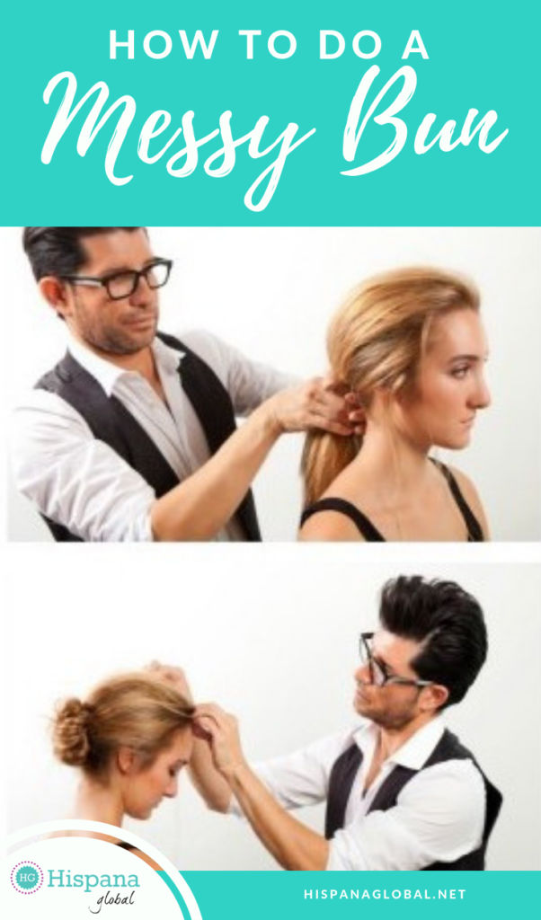 How to do a messy bun with this easy hair tutorial