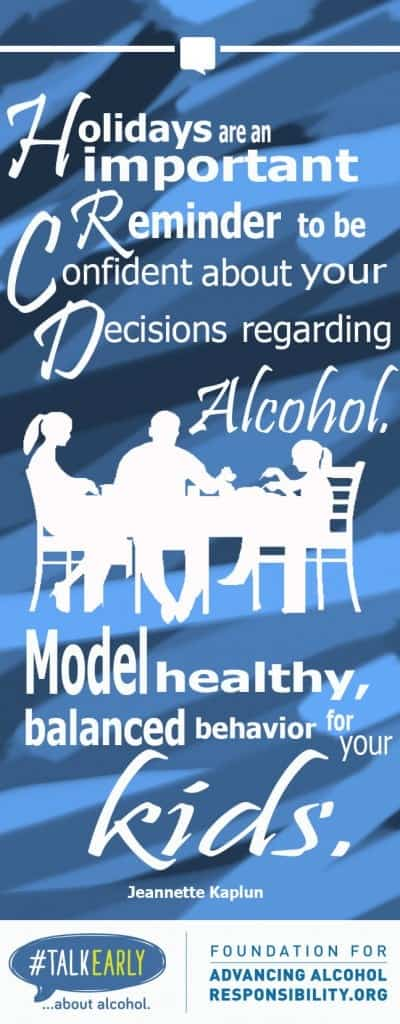 Model healthy behavior around your kids, especially about alcohol #talkearly