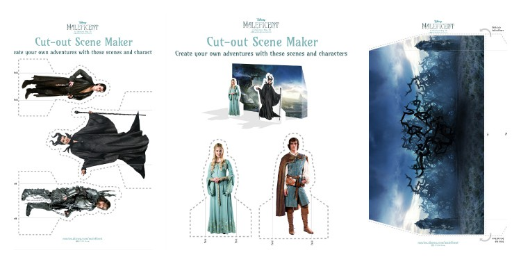 Free Maleficent printable scene maker