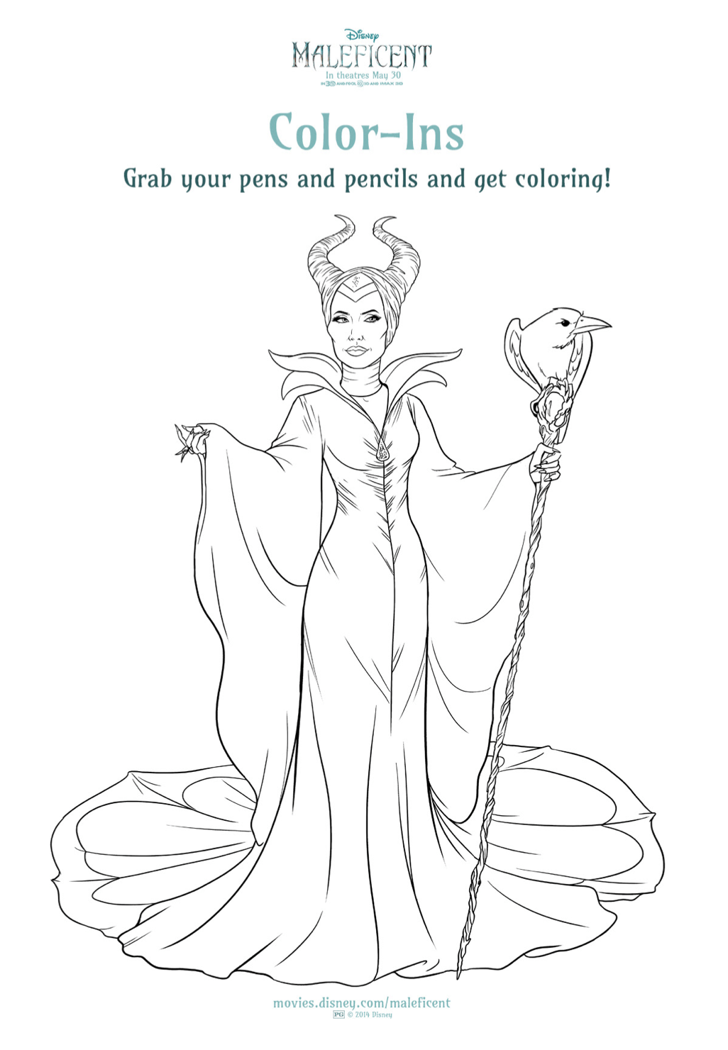 Free Maleficent and Aurora coloring