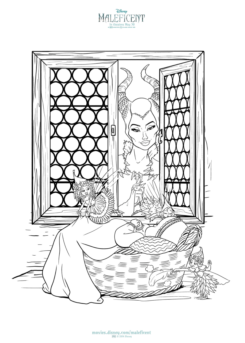 free maleficent and aurora coloring sheets hispana global