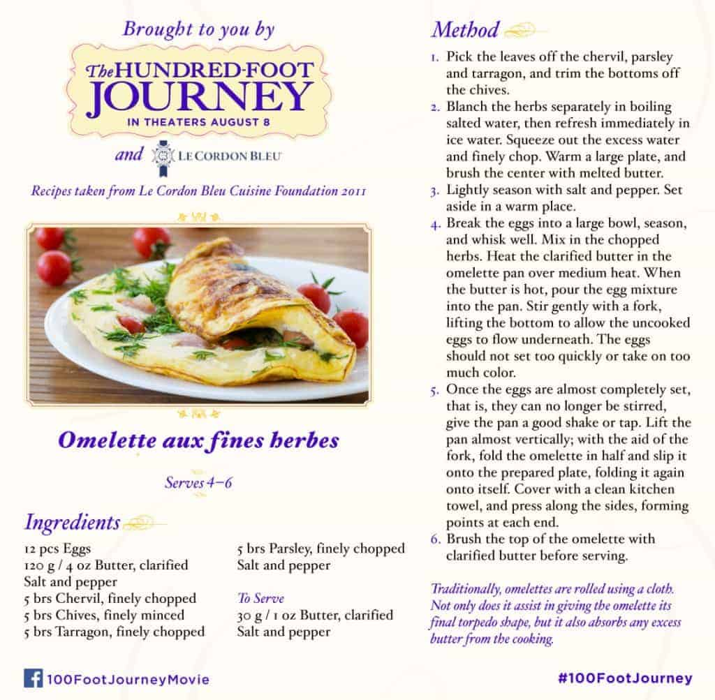 100FootJourney Herb Omelette