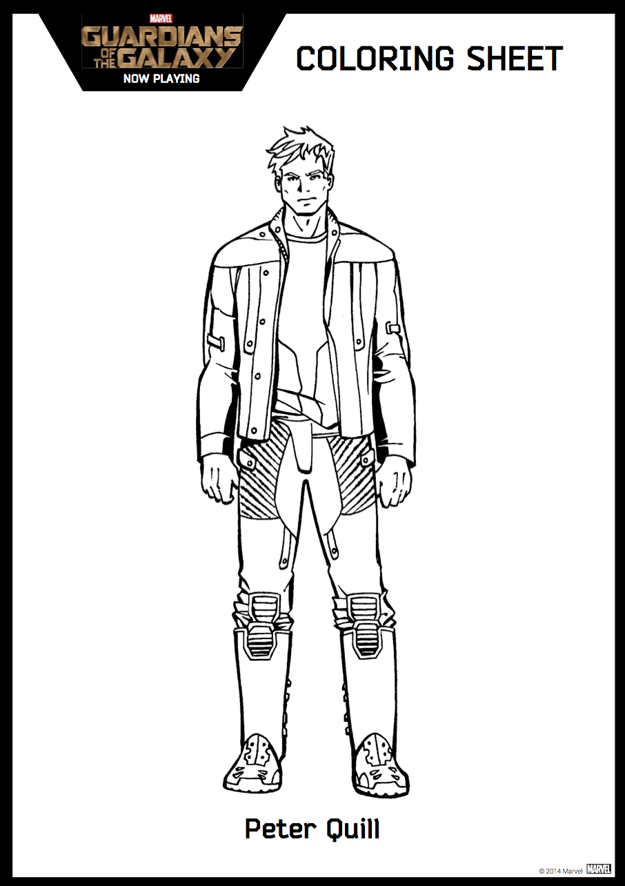 guardians of the galaxy coloring sheet 2