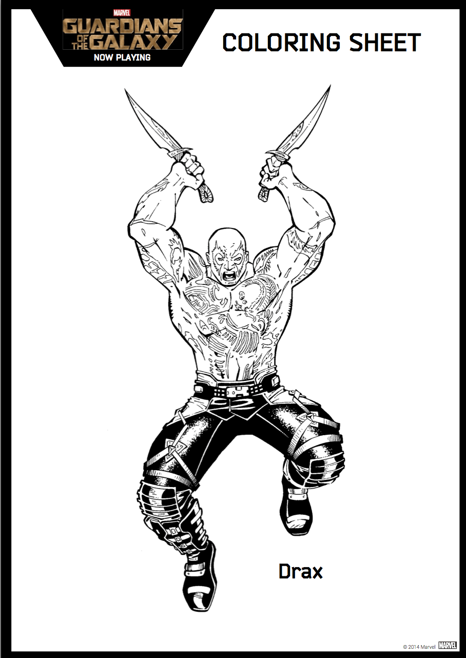 Coloring Pages Guardians Of The Galaxy : Free printable coloring pages guardians of the galaxy
