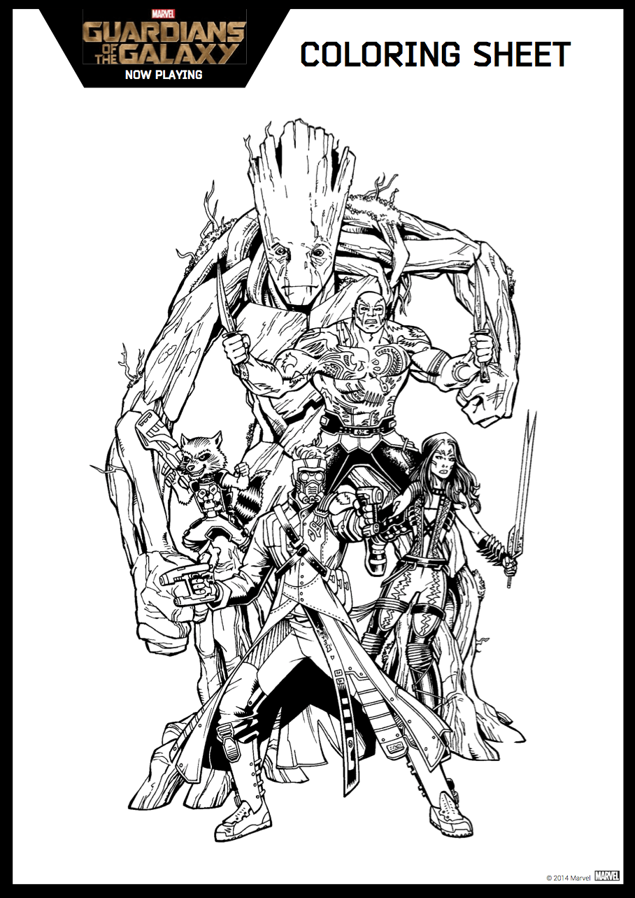 Printable coloring pages guardians of the galaxy - Coloring Pages Guardians Of The Galaxy