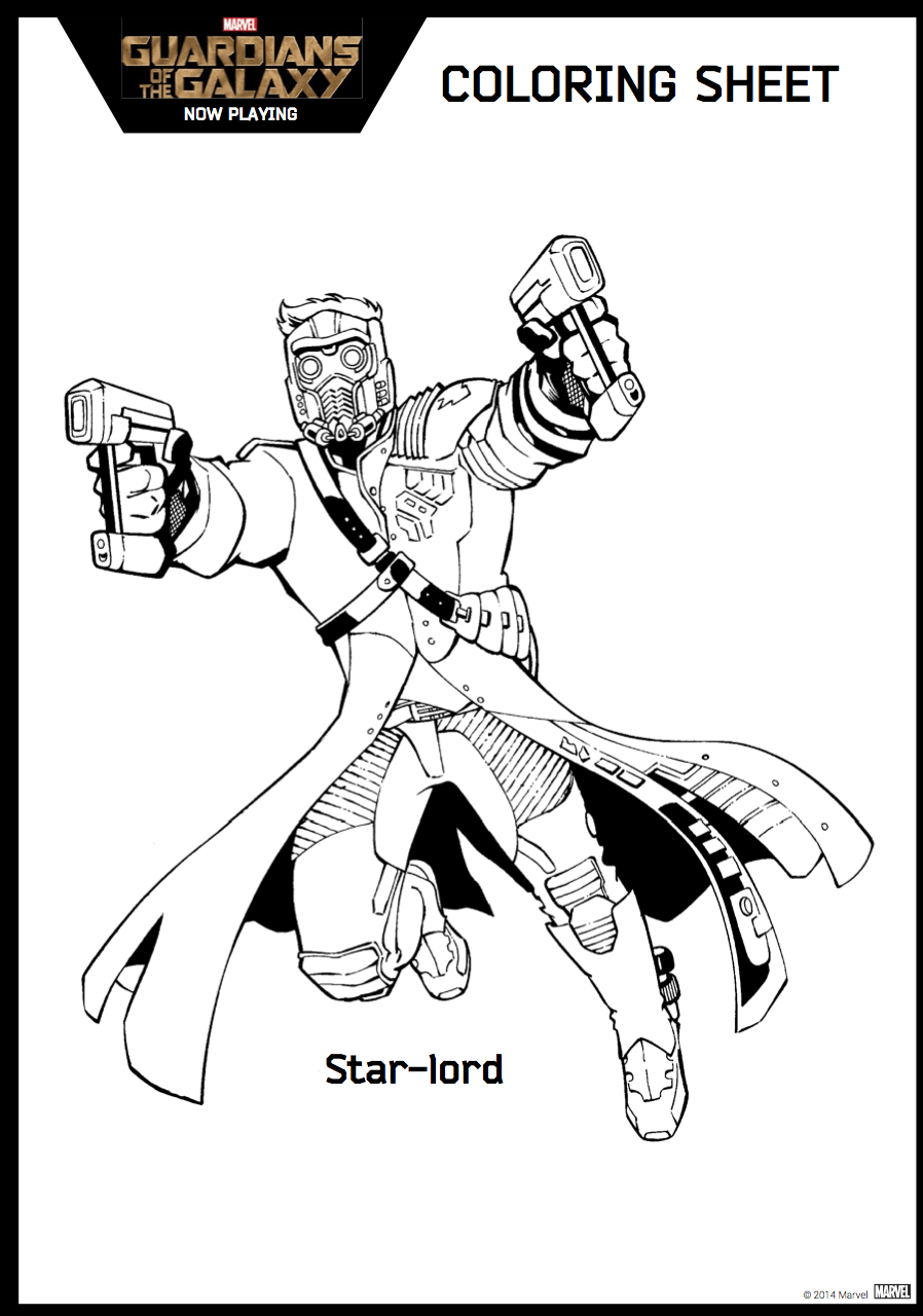 Coloring pages guardians of the galaxy - Guardians Of The Galaxy Coloring Sheet 7