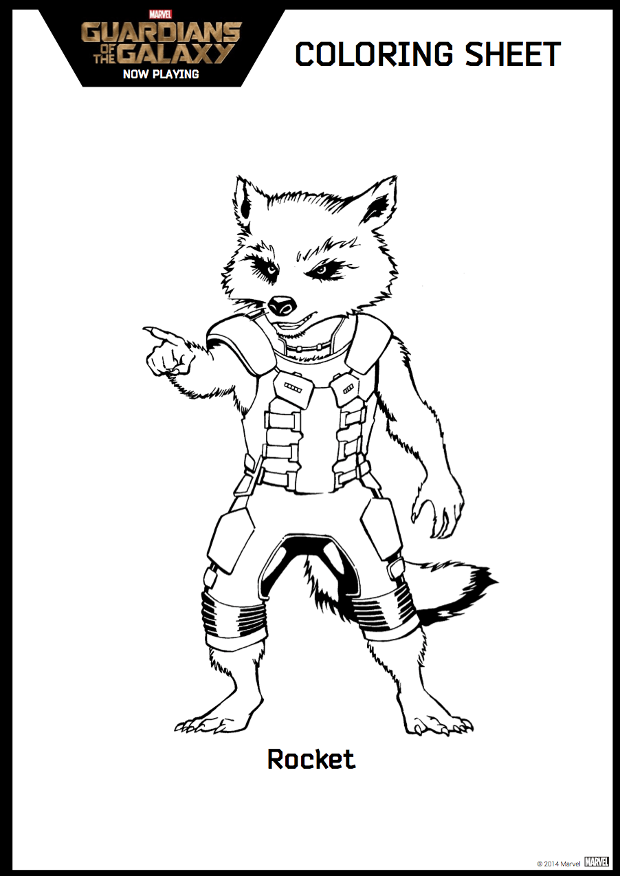 Guardians Of The Galaxy Coloring Sheet Hispana Global