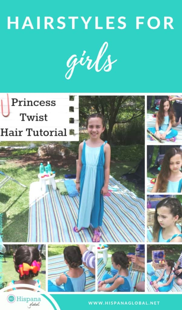Finding hairstyles for girls with long hair doesn't have to be so hard. Here's a stunning (and easy!) princess hair tutorial with a twist.