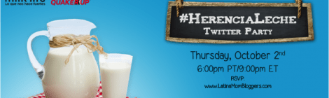 Great prizes to celebrate Hispanic Heritage with #HerenciaLeche Twitter Party