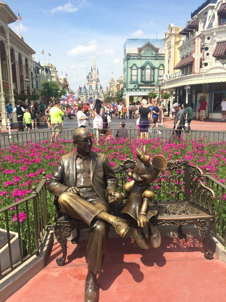 Walt Disney World Resort Roy Disney and Minnie Mouse