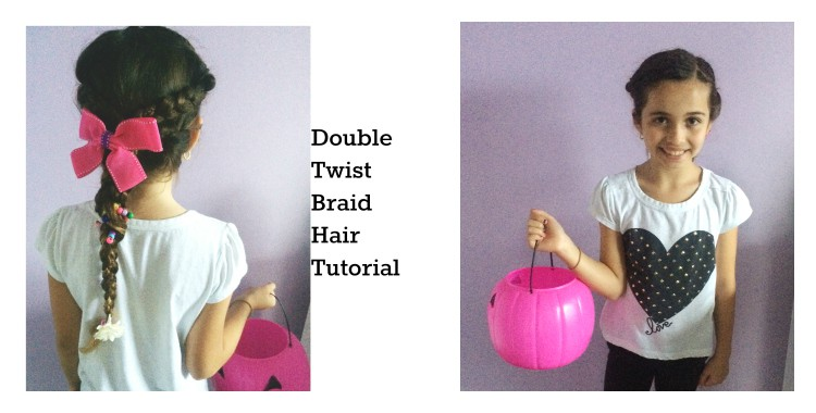 Hair tutorial for Halloween: DIY Double Twist Braid (video)