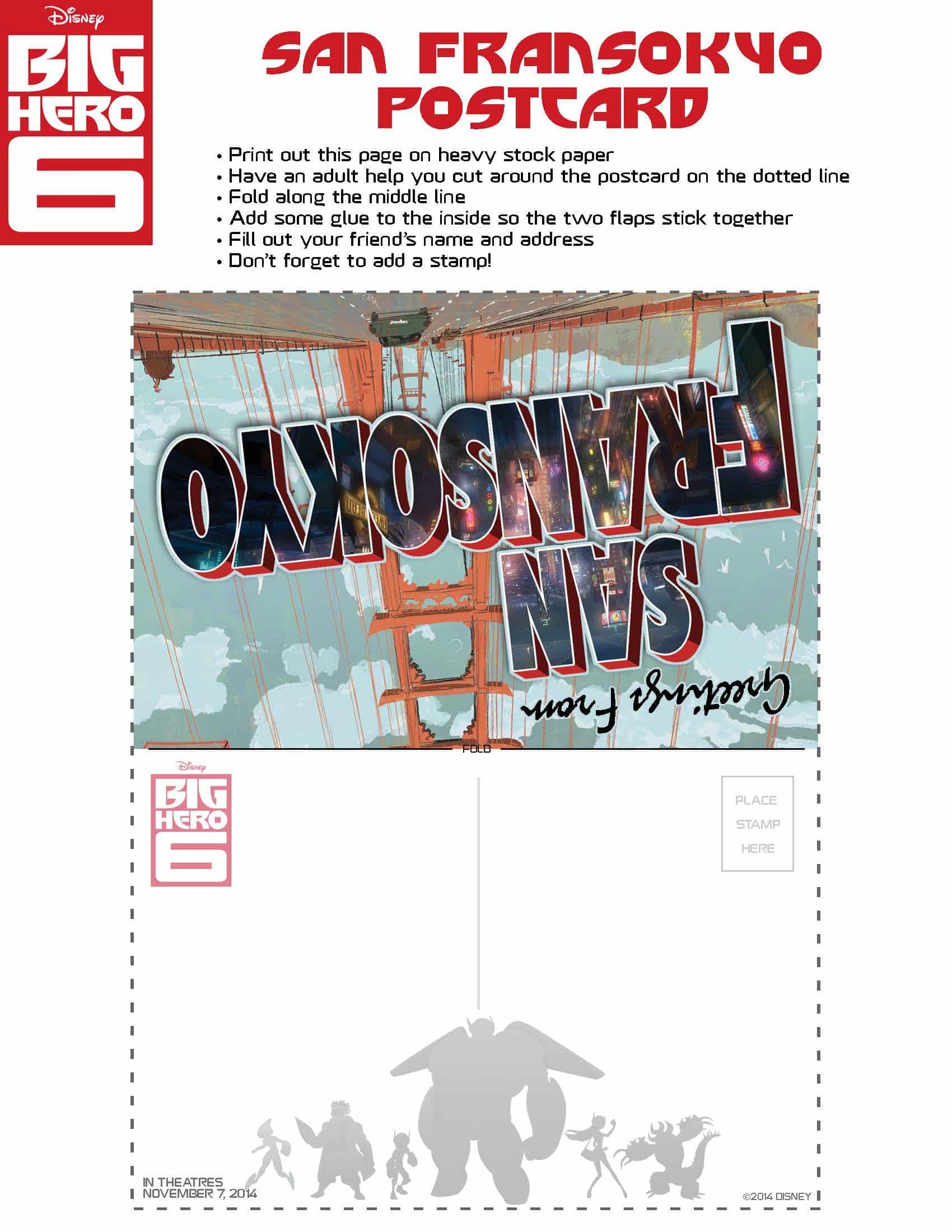 Colouring in sheets big hero 6 - Free Printable Big Hero 6 Activity Sheets