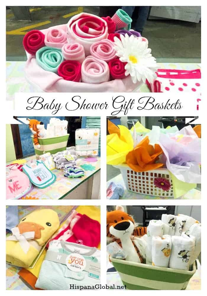 Lovely and easy to make, these baby shower gift baskets are simply wonderful!