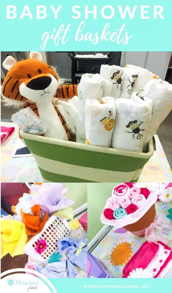 beautiful yet easy baby shower gift basket ideas that are perfect for a baby shower