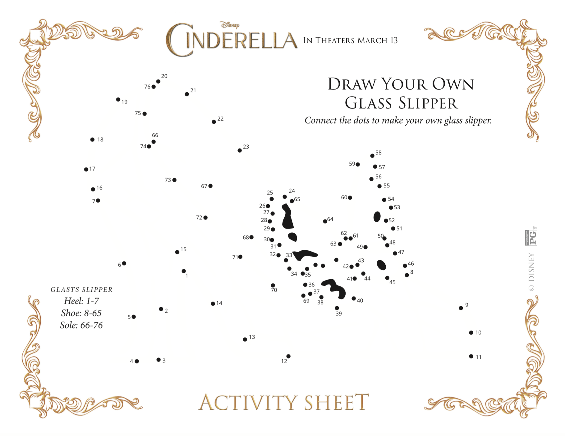 picture relating to Cinderella Story Printable named Pleasurable and no cost printable Cinderella things to do for little ones