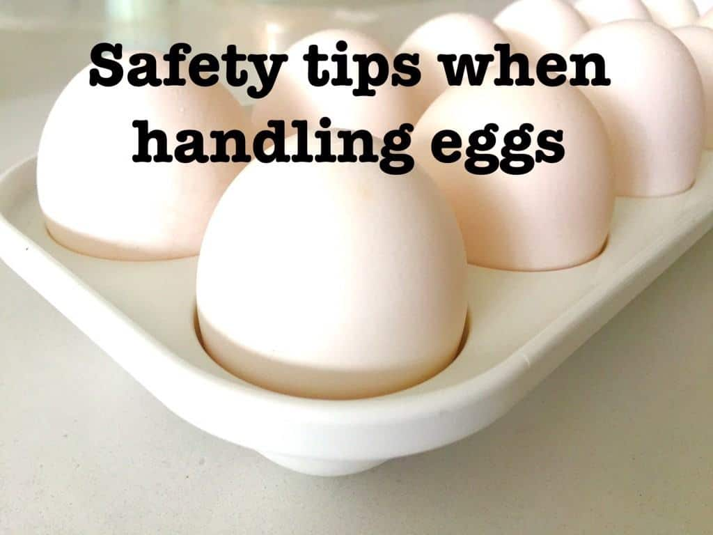 Safety tips when handling eggs