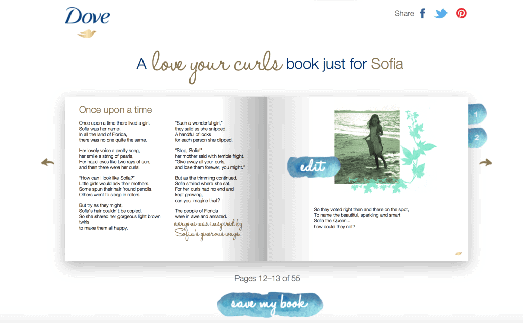 Personalized Love Your Curls Book
