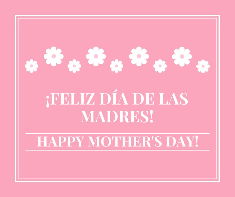 bilingual card feliz dia de las madres happy mother's day ...