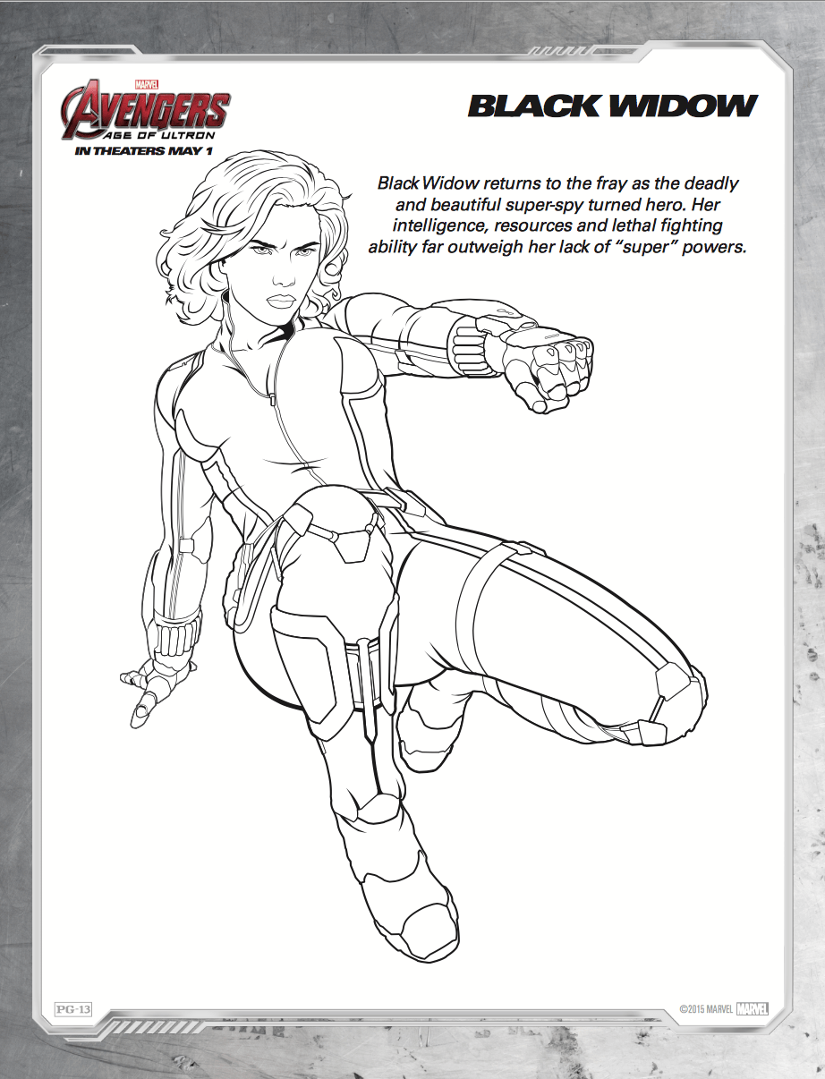 Free coloring pages for avengers - About Avengers Age Of Ultron