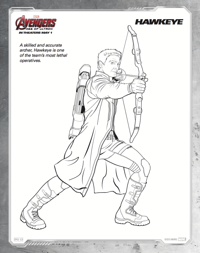 Free printable avengers age of ultron coloring sheets for Avengers coloring pages free