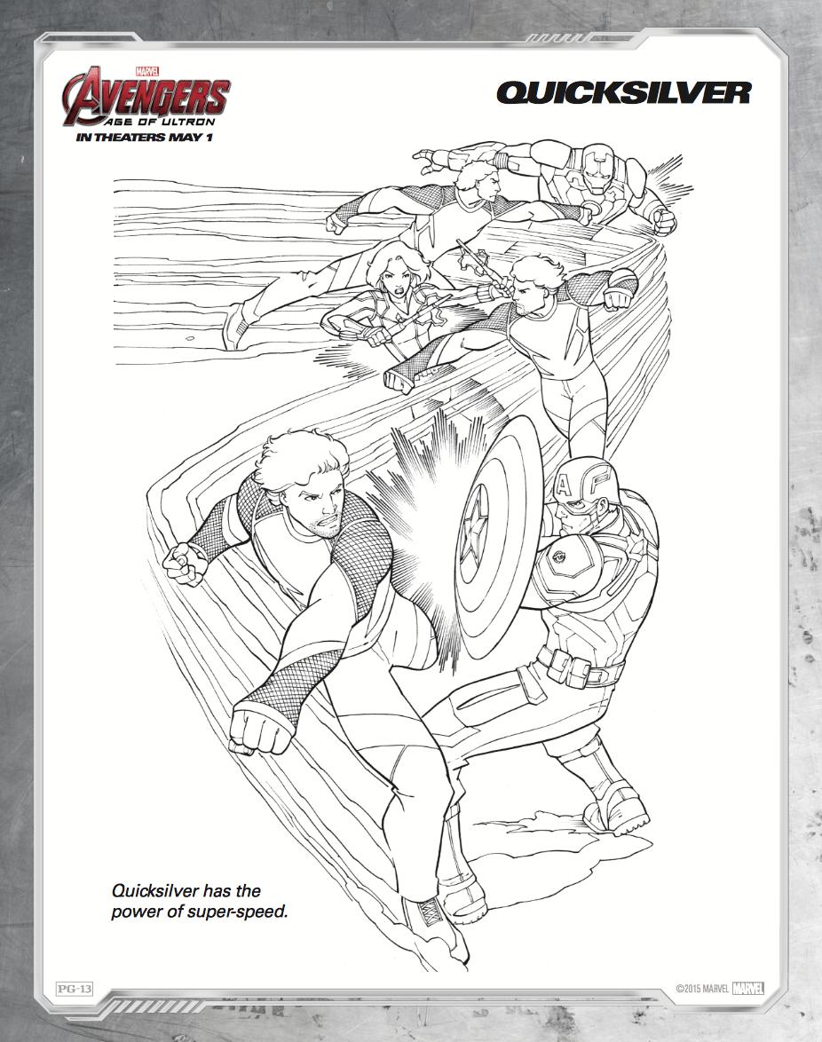 Free printable Avengers: Age of Ultron coloring sheets - Hispana ...