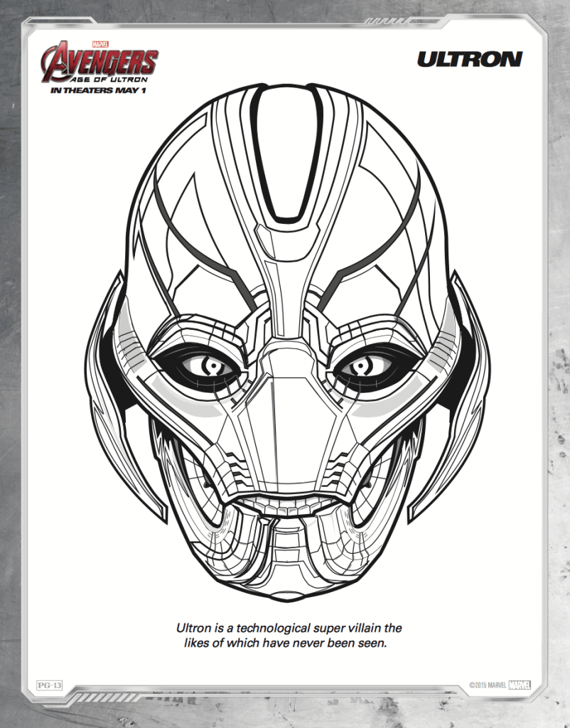 Free Printable Avengers Age Of Ultron Coloring Sheets