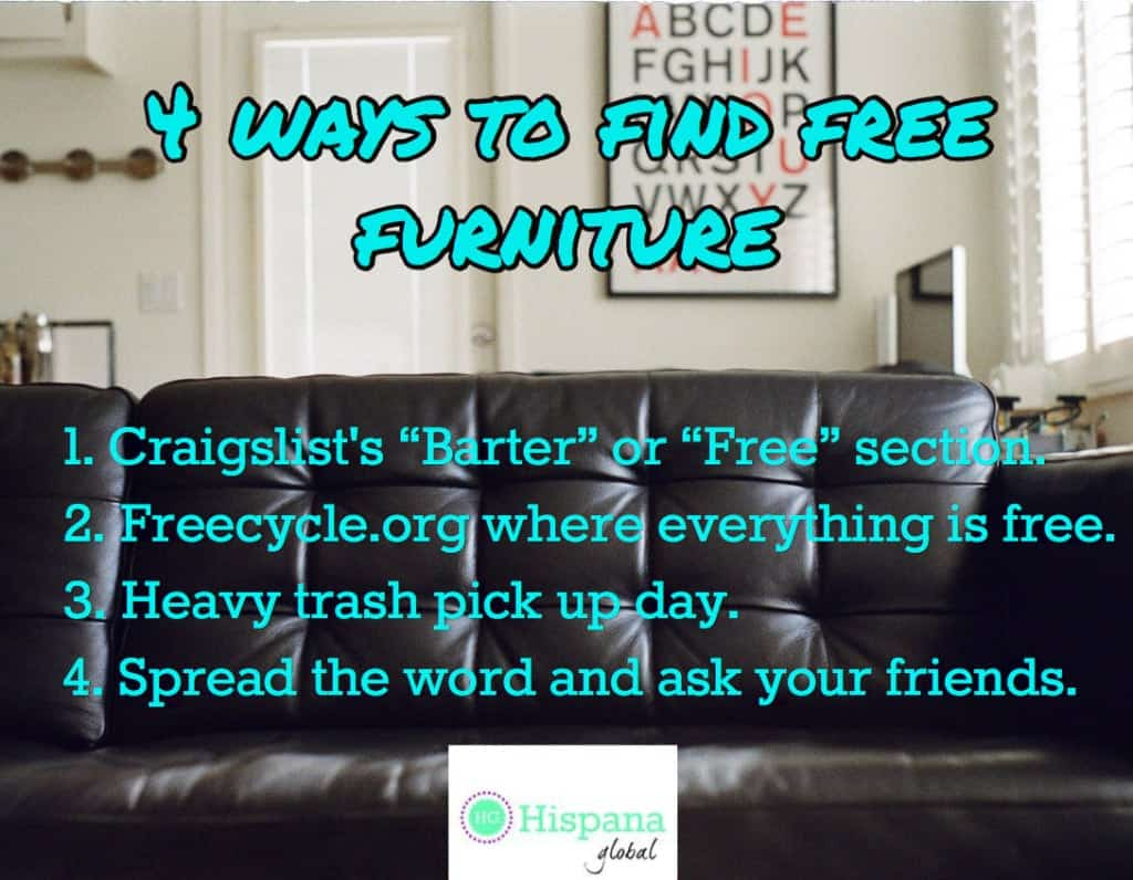4 ways to find free furniture