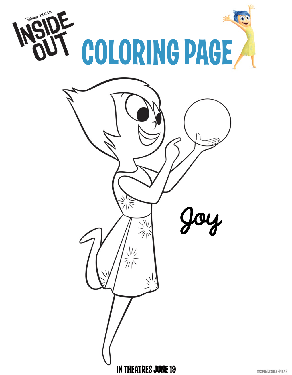 Fun and free inside out coloring pages hispana global for Stay out coloring pages